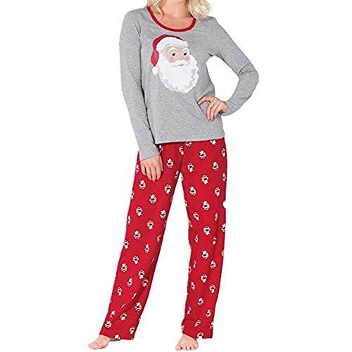 AimdonR Familie Weihnachten Pyjama Set, Santa Langarm Brief gedruckt Nachtwäsche, Nachtwäsche Eltern Kind Familie Ausrüstung passend