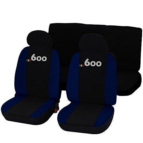 Lupex Shop 600_NBs Coprisedili Auto, Bicolore Nero/Blu Scuro
