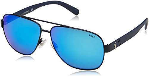 Polo Ralph Lauren Herren 0Ph3110 911925 60 Sonnenbrille, Blau (Navy Blue/Flashblue),