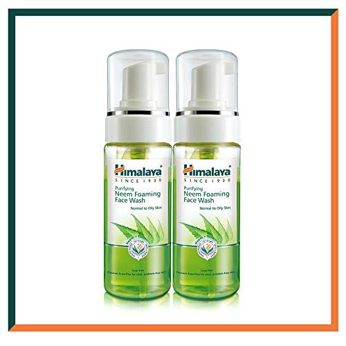 Best Face-wash Für Männer (Himalaya Herbals Neem Waschschaum mit Kurkuma-Extrakt Frei von Seife, SLS, Paraben, hypoallergen, Kräuter-Gesichtsreinigungsschaum DERMATOLOGISCH GETESTET, 150ml (Face Wash Foam, SAVER Pack of 2))