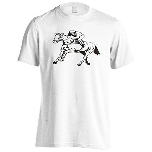 Nuovi Cavalli E Corse Di Jockey Uomo T-shirt l557m White