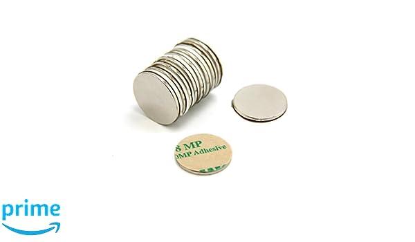 pack de 10 2,6kg force dadh/érence Magnet Expert/® 20mm diam/ètre x 2mm N42 n/éodyme aimant