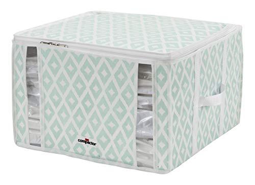 Compactor Daman Estilo Bolsa de Almacenamiento vacío Aqua, Microfibra, Aqua Color Printing on White, Mediano