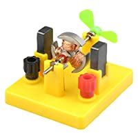 Whiie891203 Puzzle IQ Game Educational Toys,Small Direct-Current Motor Model with Fan Physical Circuit Experiment Toy for Kids Birthday & Christmas Gift Choice