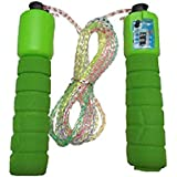 Cross Jaguar Fitness Jumping Skipping Rope for Gym Training, Exercise and Workout with Counting Meter (Multicolor)