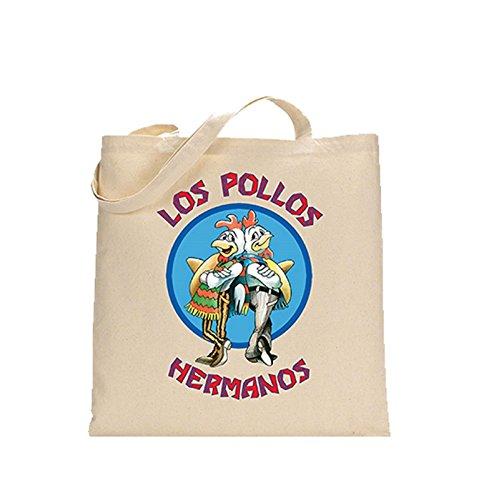 Preisvergleich Produktbild Breaking Bad Los Pollos Hermanos offiziell Nue Weiß Einkaufstasche