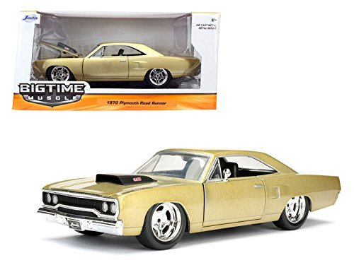 1970-plymouth-road-runner-champagne-1-24-jada-toys-98234