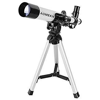 Aomekie Terrestrial Refractor Astronomy Telescope for Beginners, Travel Scope with Backpack and Adjustable Tripod