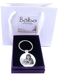 Llavero personalizado para hombre redondo - Plata - Con foto - Bölbo®