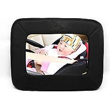 NWYJR Espejo de coche espejo claro seguro Simple asegurar instalar asiento trasero posterior succión vista bebé