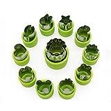 MOONBROOK Gemüse Cutter Form Set (12 Stück) für Kinder - Edelstahl Mini Gemüse, Obst, Ausstechformen, Blumen Stern Herz Tiere geformt Form für dekorative Customizing Tools Kit