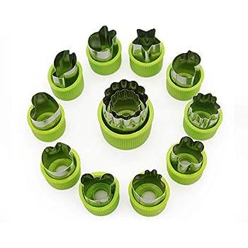 KeepingcooX 426 Emporte-pi/èces en acier inoxydable Linzer Set Rouge vert.