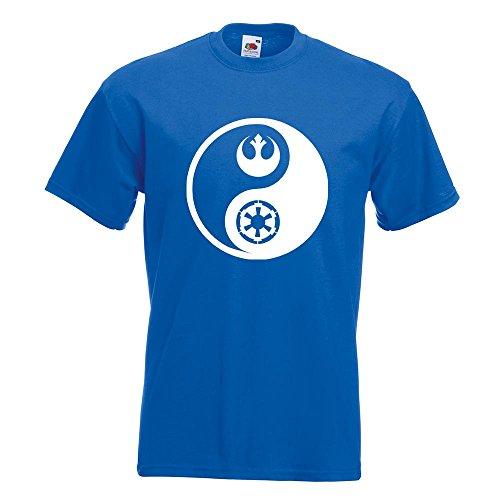 KIWISTAR - Jedi Sith - Yin und Yang T-Shirt in 15 verschiedenen Farben - Herren Funshirt bedruckt Design Sprüche Spruch Motive Oberteil Baumwolle Print Größe S M L XL XXL Royal