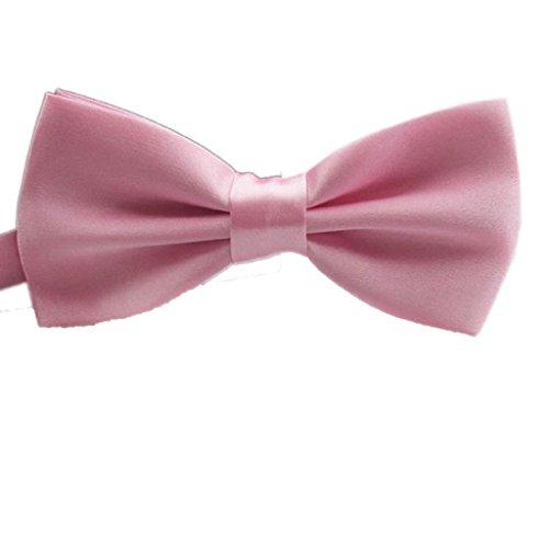 Tonsee® Mode classique nouveauté Mens réglable Tuxedo mariage Bow Tie cravate (Rouge clair)