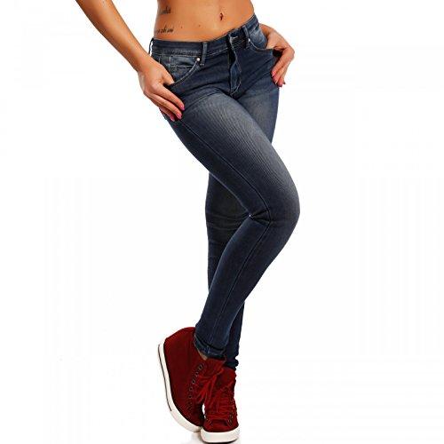 Denim Skinny Jeans Jeggings-Stil Slim Fit Blau