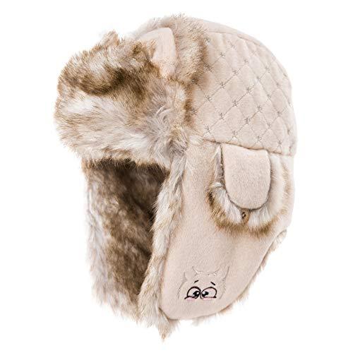 XIAOYAN Karikatur gestickter Ohrenschützer-weiblicher Winter-Katzen-Ohr-Ohrenschützer-Hut-starker warmer Hut (Farbe : 04)