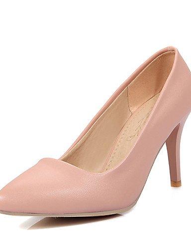 WSS 2016 Chaussures Femme-Habillé / Soirée & Evénement-Bleu / Rose / Beige-Talon Aiguille-Bout Pointu-Talons-Similicuir beige-us9.5-10 / eu41 / uk7.5-8 / cn42
