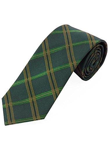 LORENZO GUERNI PREMIUM - italienisches Design - 100% Seide Top aktuelle Krawatte im englischen Design in grün / bronze (Englisch-krawatte Seide)