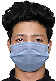 Biroller BR0016 3 Ply Non Surgical Disposable Face Mask 25 GSM Unisex Nose Mouth Protection Cover with Non-wov