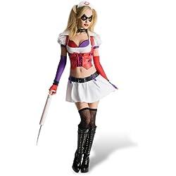 Elbenwald Arkham Asylum Harley Quinn Disfraz Blanco L