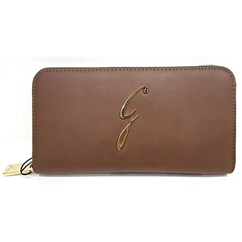 PORTAFOGLI DONNA GATTINONI AVA LARGE ZIP AROUND WALLET BROWN
