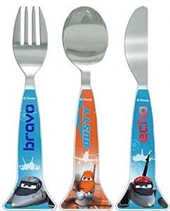 Spearmark 3-Piece Disney Planes Cutlery Set, Blue