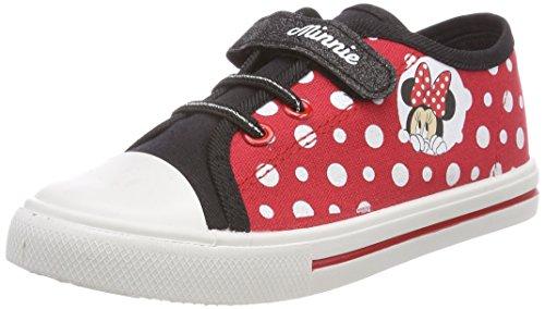 Foto de Leomil Fashion Girls Kids Low Sneakers, Zapatillas para Niñas, Rot (Black/H.Red), 26 EU