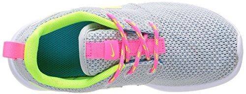 Nike Rosherun PS TD Scarpe Sportive, Unisex Bambino Pr Platinum/Vlt-Pnk Pw-Bl Lgn