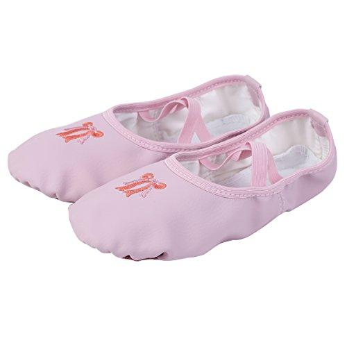 15540dfd08b iEFiEL Zapatillas de Ballet Danza para Niña Zapatos Zapatillas de Bailarina  Gimnasia.