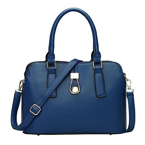 YipGrace Donna Matrimonio Nuziale Tote Handbag Borsa A Tracolla Business Bag Spalla Borsa Mare Blu