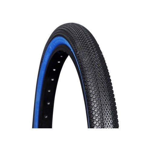 VEE TIRE CO  SPEEDSTER BMX TIRE: 20 X 1 1/8 FOLDING BEAD BLACK TREAD BLUE SIDEWALL BY VEE TIRE CO