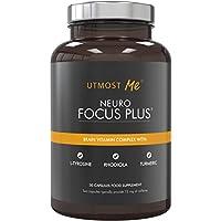 Brain Vitamins, Natural Nootropic Supplement - Focus, Concentration, Memory Blend   Enhance Alpha Brain Waves   Cognitive Booster - Caffeine + L-Theanine   Neuro Focus PLUS   NEW By Utmost Me (™)