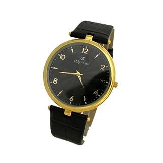 Oskar Emil Vienna – Reloj de Caballero de Cuarzo, Correa de Piel Color Negro
