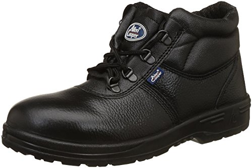 Allen Cooper AC-1144 High Ankle Safety Shoe, DIP-PU Sole, Black, Size 9