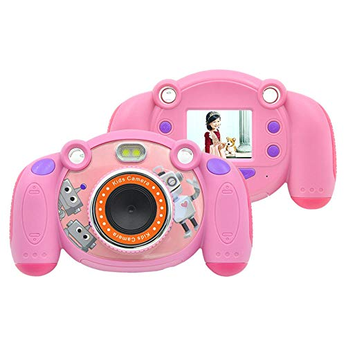 InitialD Kinder Cartoon Digitalkamera, 8MP Kinder Mini Zoom Kamera, 2 Zoll LCD, rutschfest und Anti-Drop, für Mädchen Jungen Foto Video Record Geburtstagsgeschenke Zoom-mini-kamera