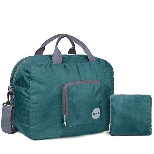 ed8c2c2f3f WANDF Foldable Travel Duffel Bag Super Lightweight for Luggage, Sports Gear  or Gym Duffle,