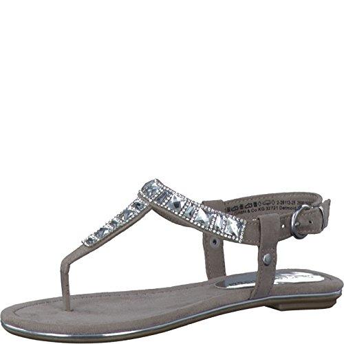 Marco Tozzi 28112-28/341 Damen Sandalette bis 30mm Absatz Grau