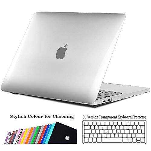 """iNeseon Coque MacBook Pro 15 Pouces(2016/2017/2018),Mince Housse Rigide Étui + Couverture de Clavier pour MacBook Pro 15,4"""" avec Touch Bar/ID, Modèle A1707 A1990, Cristal Transparent"""