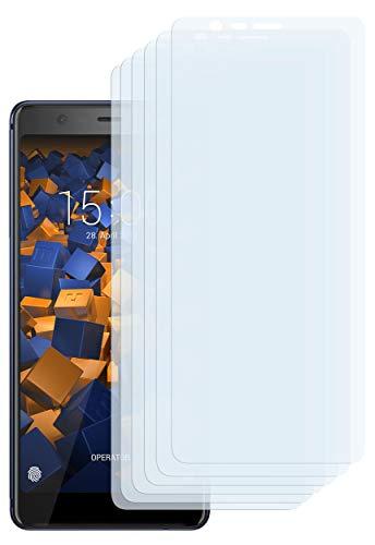 mumbi Schutzfolie kompatibel mit Nokia 5.1 2018 Folie klar, Bildschirmschutzfolie (6x)