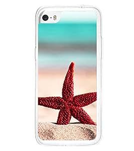 Red Star Fish 2D Hard Polycarbonate Designer Back Case Cover for Apple iPhone 5C
