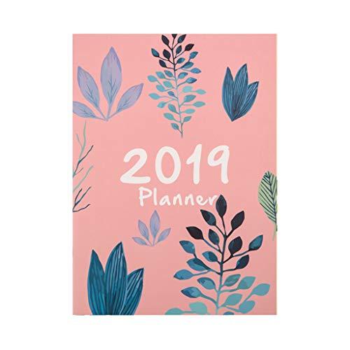 GROOMY 2019 Flower A4 Agende Pianificazione Notebook mensile Daily Planner Diario Organizzatore di cancelleria Materiale Scolastico per Ufficio - 01#
