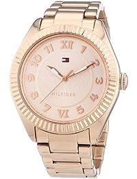 Tommy Hilfiger 1781344 - Reloj de cuarzo para mujer, correa de acero inoxidable chapado color oro rosa