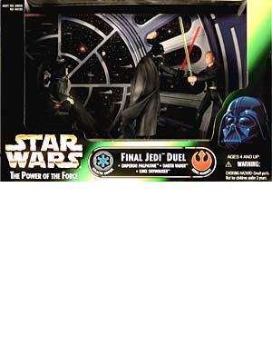 Final Jedi Duel Set mit Emperor Palpatine, Darth Vader & Luke Skywalker - Star Wars Power of the Force