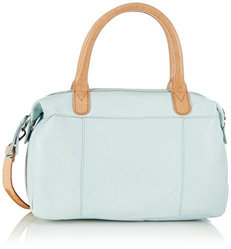 Pieces - Pcelana Leather Bag, Borsa A Tracolla da donna, turchese (moonlight jade moonlight jade), 35x21x10 cm (B x H x T)