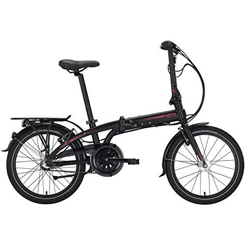 Tern Faltrad Link C3i Fahrrad 3 Gang 20 Zoll Alu Nabenschaltung Shimano Ständer Gepäckträger, CB19PFCO03HDR, Farbe Schwarz