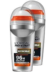 L'Oréal Men Expert Invincible Déodorant Bille Homme Sans Alcool Lot de 2