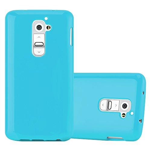 Preisvergleich Produktbild Cadorabo Hülle für LG G2 - Hülle in Jelly HELL BLAU – Handyhülle aus TPU Silikon im Jelly Design - Silikonhülle Schutzhülle Ultra Slim Soft Back Cover Case Bumper