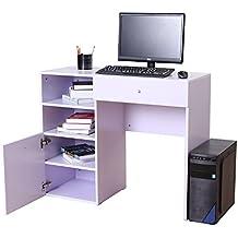 Bureau pour ordinateur table meuble pc informatique multimedia en MDF neuf 23WT