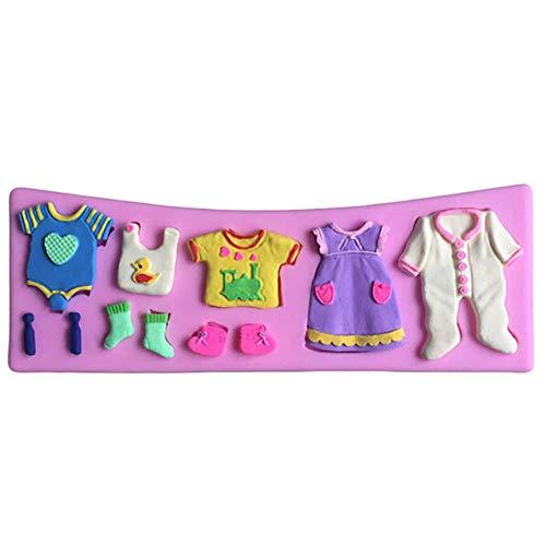 likon Baby Kleidung, Schuh Kuchen Form, Fondant Küche Kuchen Form Backform Werkzeug Keks Form ()