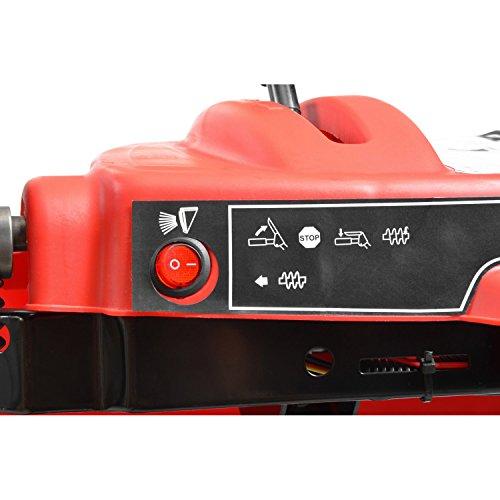 Hecht 9562 SE Benzin-Schneefräse Kehrmaschine Schneeschieber (inkl. E-Start und Seilzug, LED-Scheinwerfer, 62 cm Arbeitsbreite) -